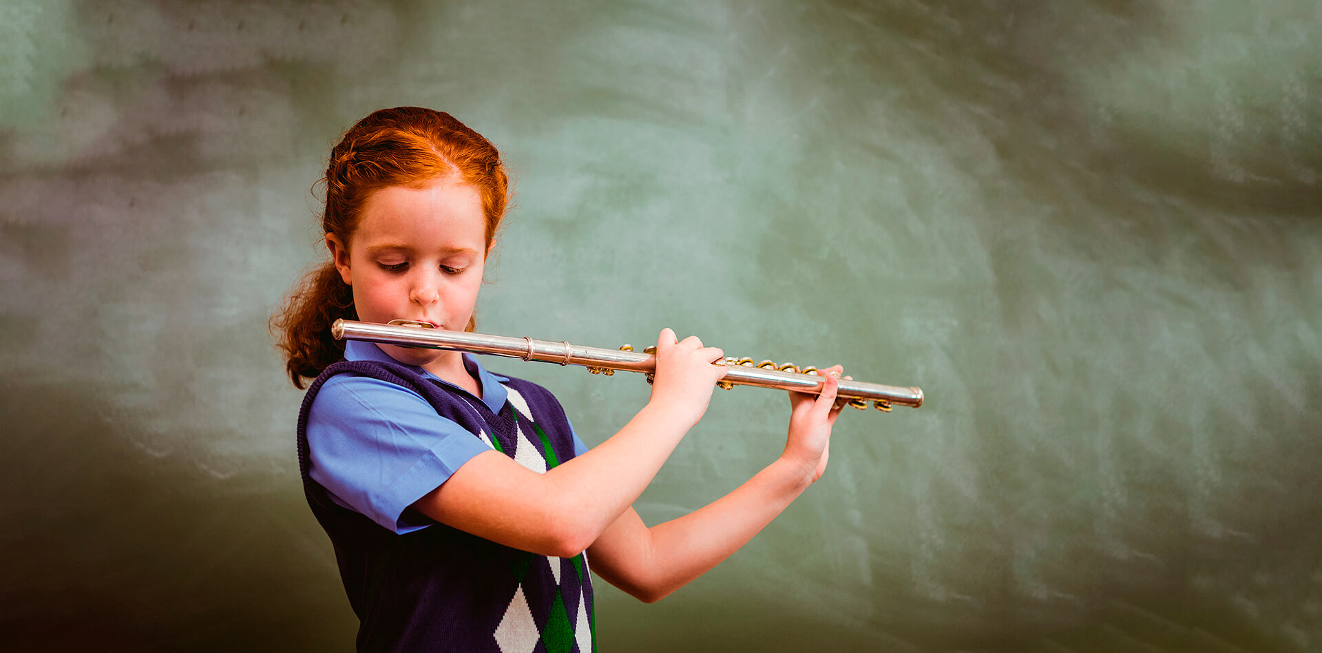 Flute lessons at the Montessori Center